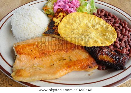 Costa Rica food. Casado