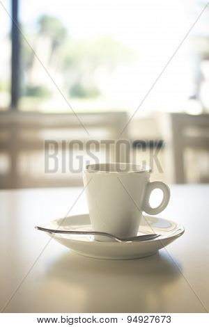 Coffee Expresso Cup Spoon Saucer Restaurant Cafe Bar