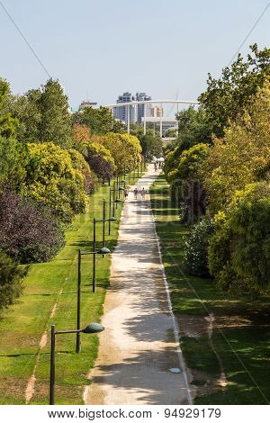 Turia Gardens In Valencia