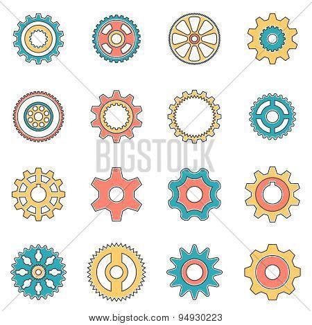 Icons gear wheel