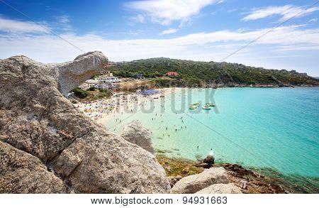 Rena Bianca the Beach of St. Teresa in Summer - North Sardinia Italy
