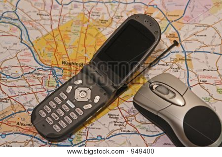 Cell Phon With Map Blank Screen
