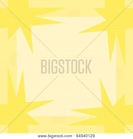 Yellow Pointy Corner Pattern