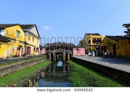 Japanese pagoda (or Bridge pagoda) in Hoi An ancient town in Hoian, Vietnam