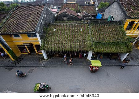 Hoi An ancient town from high view in Hoian, Vietnam