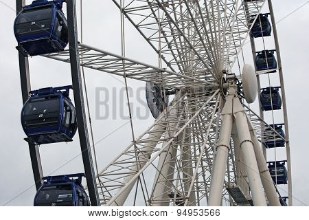 Dusseldorf, Germany - December 8, 2013 Spectacular views from the Ferris wheel in the center of Dusseldorf poster