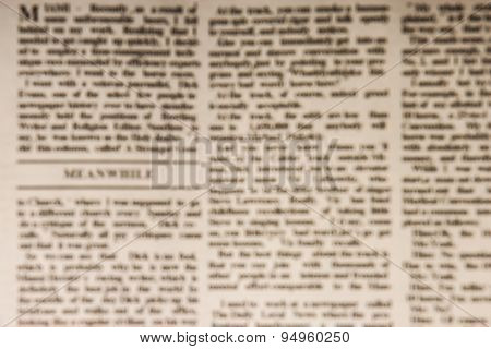 Blurred Newspaper Background