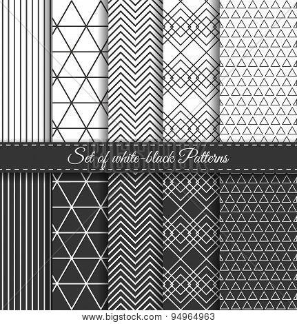 Set Of Black White Pattern2