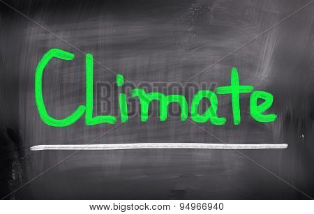 Concept Handwritten With Chalk On A Blackboard. Climate poster