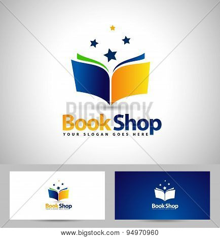Book Logo Book Shop Icon