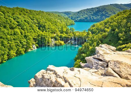 Turquoise Water Of Plitvice Lakes National Park