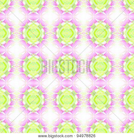 Seamless pattern pink green