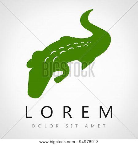 Vector image of an crocodile