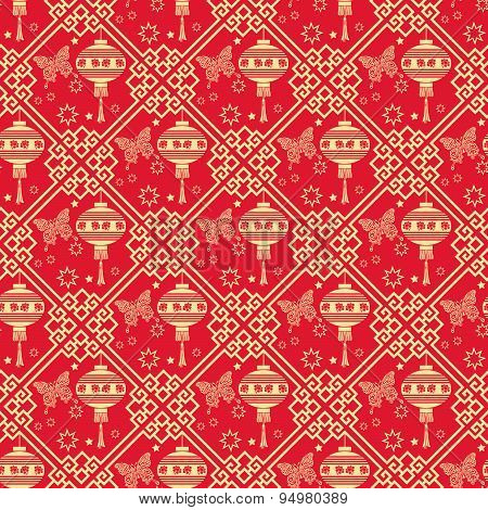 Background seamless pattern. Asian style texture