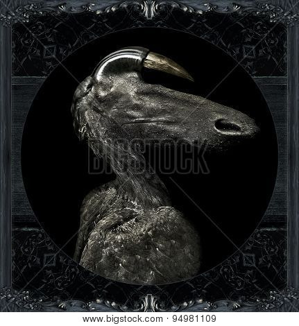 Fantasty Dark Alien Monster Portrait