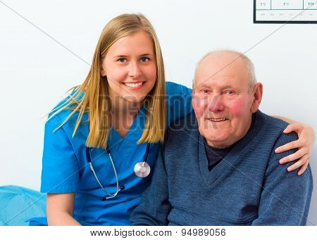 Doctor And His Lovely Elderly Patient