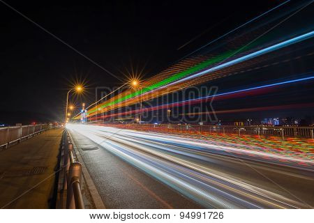 Traffic Trail At Night