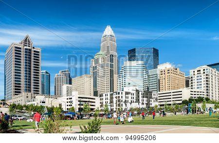 Uptown Charlotte, North Carolina skyline panorama