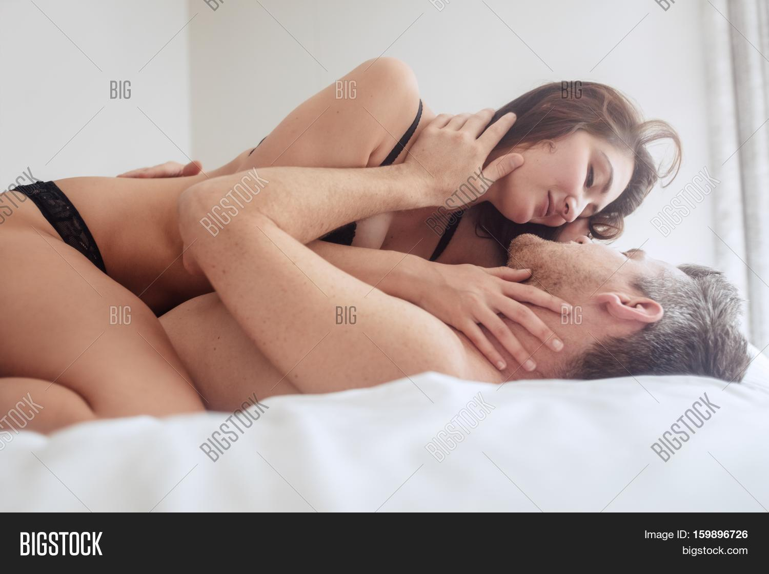 Beautiful couple having passionate sex