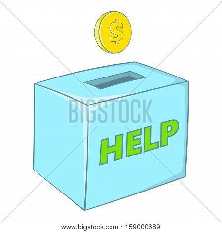 Donation box icon. Cartoon illustration of donation box vector icon for web