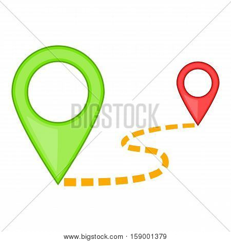 Map pointer icon. Cartoon illustration of map pointer vector icon for web