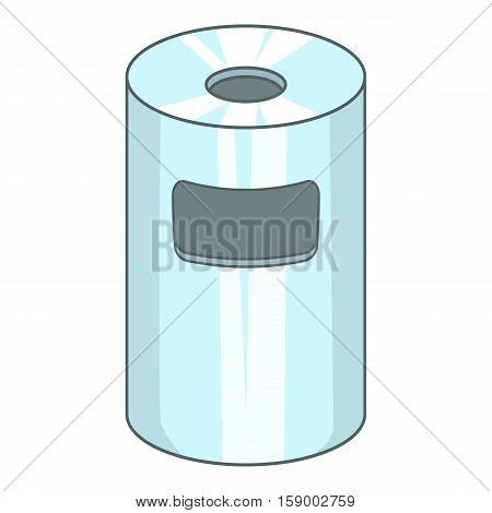 Trash can icon. Cartoon illustration of trash can vector icon for web