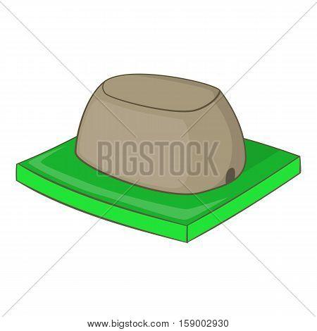 Sigiriya rock icon. Cartoon illustration of sigiriya rock vector icon for web