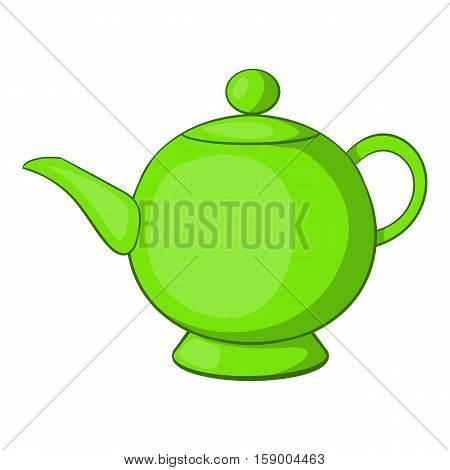 Teapot icon. Cartoon illustration of teapot vector icon for web