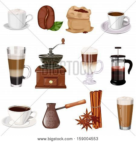Coffee Theme Vector Set