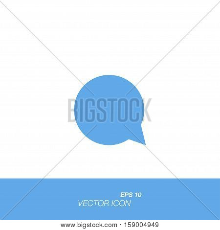 Comments icon in flat style isolated on white background. Comments symbol for your design and logo. Vector illustration EPS 10.