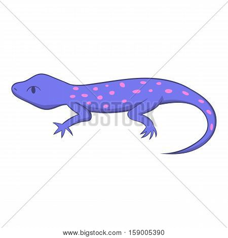 Spotted lizard icon. Cartoon illustration of spotted lizard vector icon for web