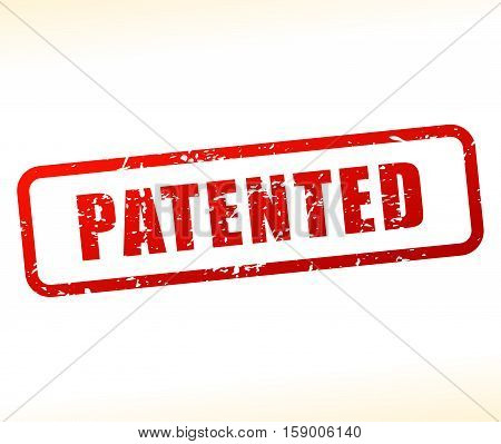 Illustration of patented icon on white background