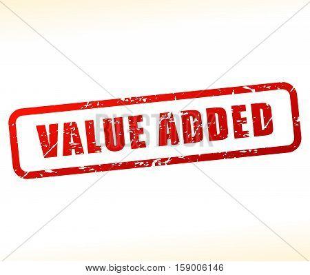 Illustration of value added icon on white background
