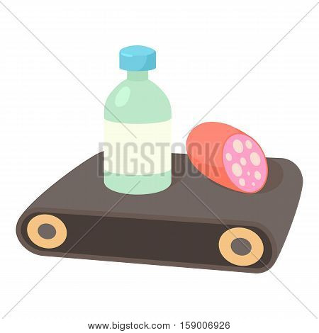 Conveyor belt icon. Cartoon illustration of conveyor belt vector icon for web