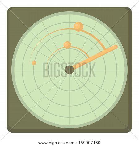 Radar icon. Cartoon illustration of radar vector icon for web