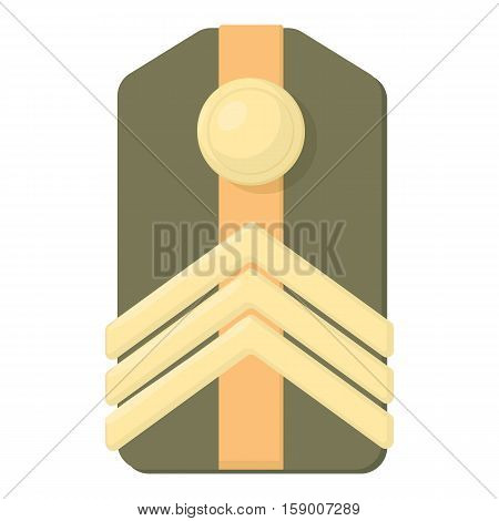 Shoulder straps icon. Cartoon illustration of shoulder straps vector icon for web