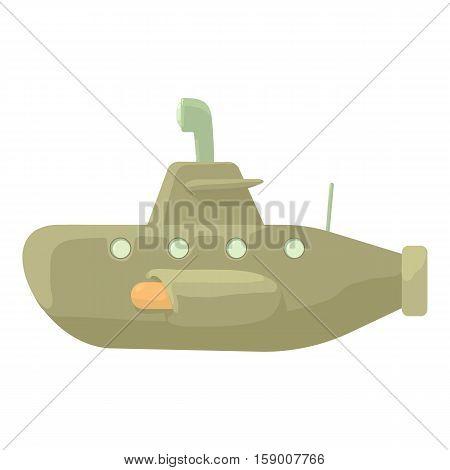 Submarine icon. Cartoon illustration of submarine vector icon for web