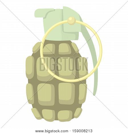 Hand grenade icon. Cartoon illustration of hand grenade vector icon for web