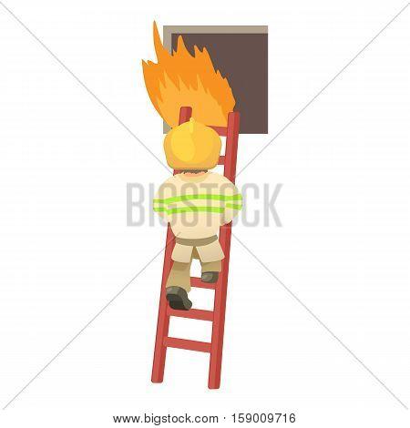 Fireman icon. Cartoon illustration of fireman vector icon for web