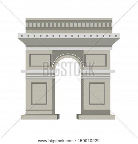 Arch of triumph icon vector illustration graphic design