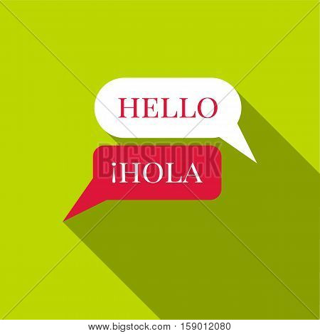 Speaking spanish icon. Flat illustration of speaking spanish vector icon for web