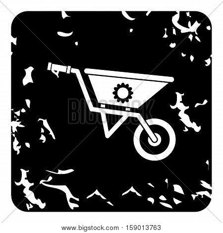 Gardening trolley icon. Grunge illustration of gardening trolley vector icon for web