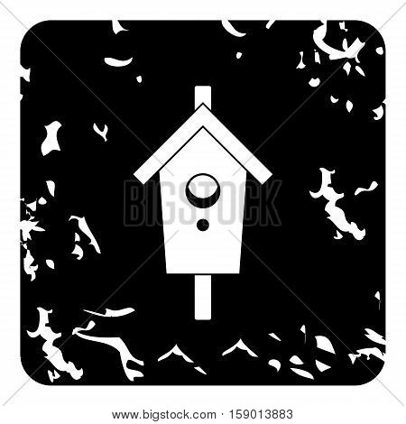 Bird house icon. Grunge illustration of bird house vector icon for web