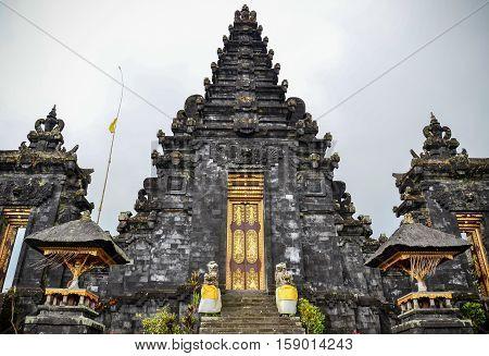 Pura Besakih black temple in Bali, Indonesia