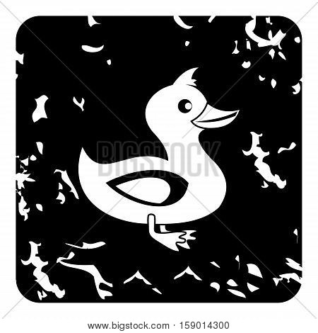 Duck icon. Grunge illustration of duck vector icon for web
