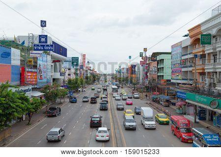 BANGKOK - July 10 2016 Thailand: Part of Bangkok's Lat Krabang Bangkok area.