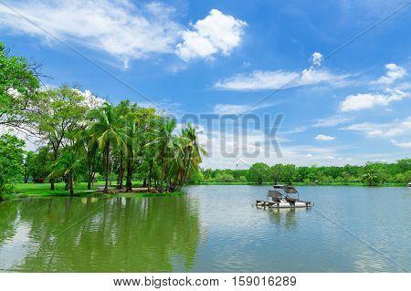 Wachirabenchathat Park State Railway Public Park public park in Chatuchak district Bangkok Thailand