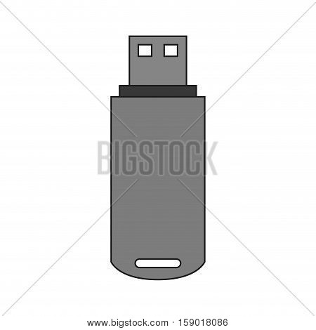 Usb device icon. Connection technology equipment and hardware theme. Isolated design. Vector illustration