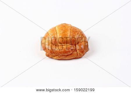 Home made ,Crispy fresh margarine croissant isolated on white background.