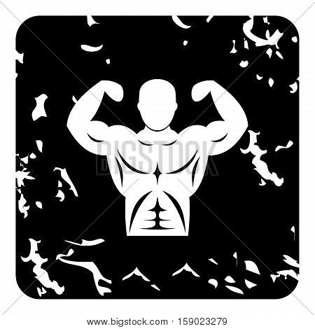 Strong torso icon. Grunge illustration of strong torso vector icon for web